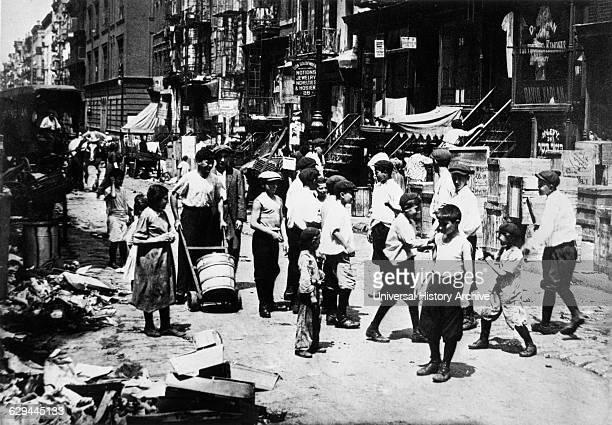 Children on Lower East Side Street New York City USA 1911