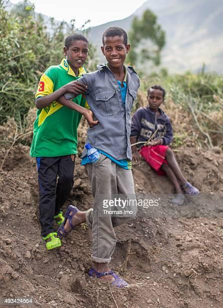 Children on October 13 2015 in Mahoni Ethiopia