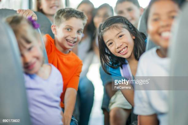 children on their way to school - peterborough ontario stock photos and pictures