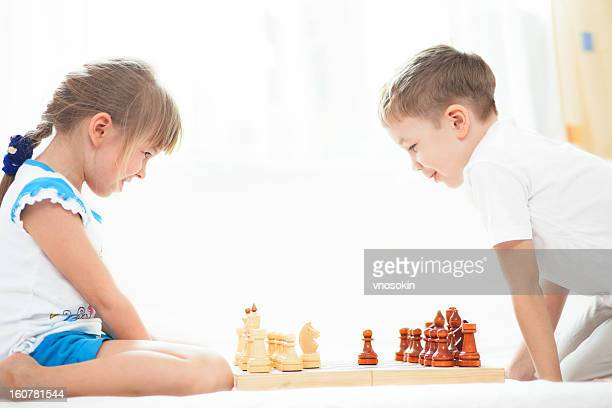 Children palying chess
