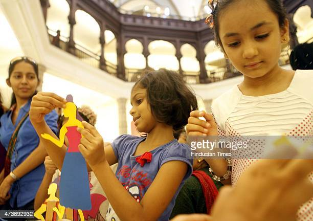 Children participate in puppet making activity at Chhatrapati Shivaji Maharaj Vastu Sangrahalaya organized on occasion of International Museum Day on...