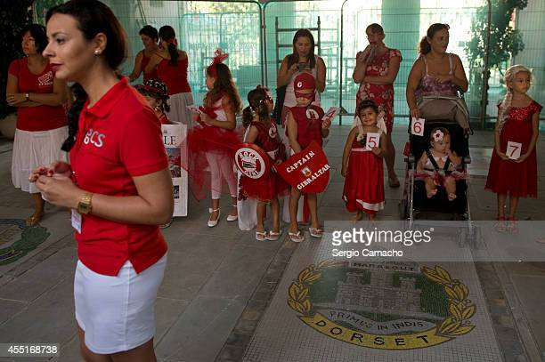 Children participate in the costume contest during Gibraltar National Day celebrations on September 10 2014 in Gibraltar The official Gibraltar...