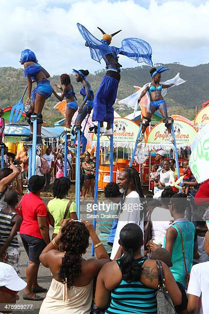 Children perform during the Republic Bank Children's Carnival Parade on Satruday 28 2014 in Port of Spain Trinidad