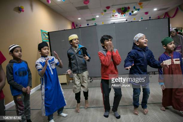 Children play at the Rohingya Cultural Center of Chicago on January 11 2019 in Chicago Illinois Chicago has one of the largest number of Rohingya...