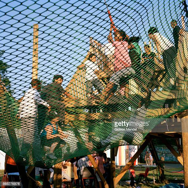 Children play during a festival event held at the Homerton Adventure Playground close to the Kingsmead Estate and Kingsmead Primary School This...