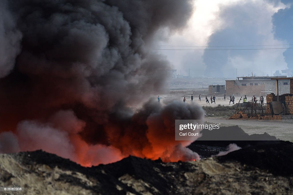 Joint Forces Battle To Retake Iraqi City Of Mosul From ISIS : ニュース写真