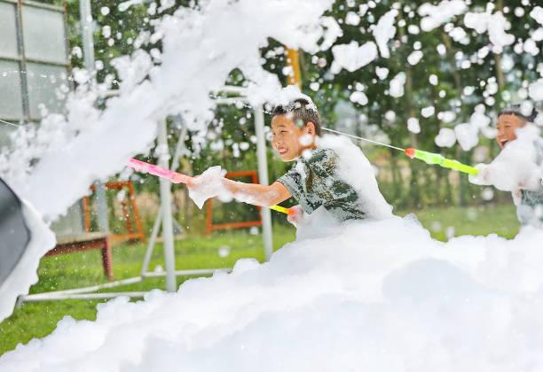 CHN: Bubble Bath In Qinhuangdao