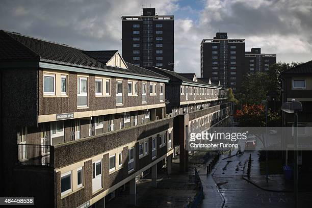 Children play in front of their homes on the Falinge Estate, which has been surveyed as one the most deprived areas in England for five years in a...