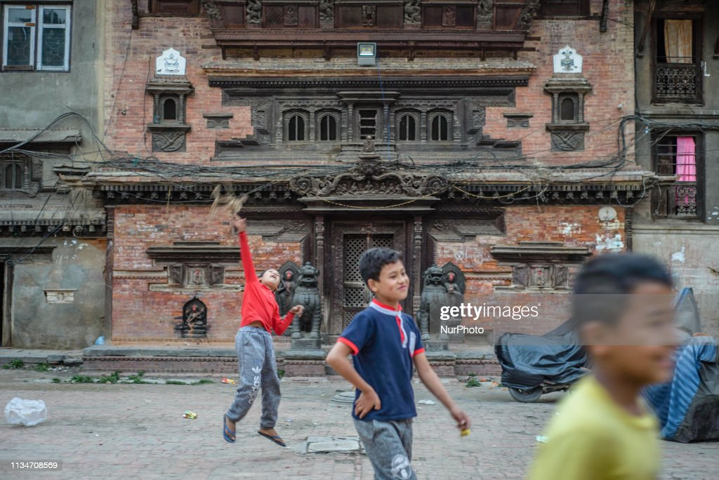Daily Life In Thamel District, Kathmandu : News Photo