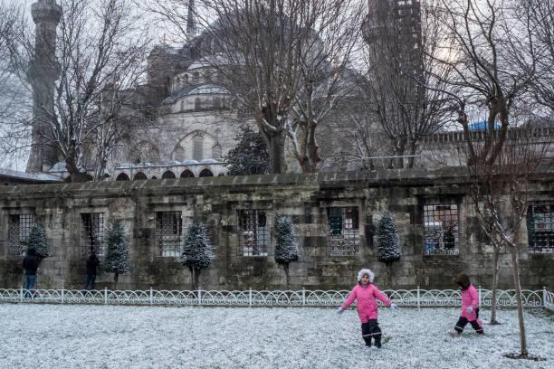 TUR: Snowfall In Istanbul Amid Coronavirus Lockdown