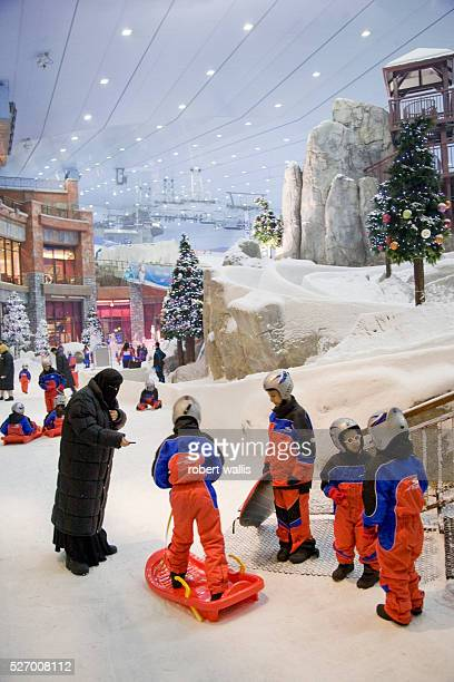 Children play with sleds at Ski Dubai at the Mall of the Emirates AlSoufouh Dubai Ski Dubai is the Middle East's first indoor ski resort with five...