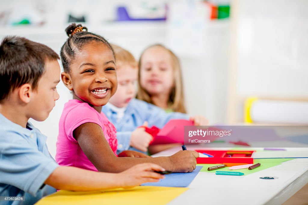 Children Playing at Daycare : Stock Photo