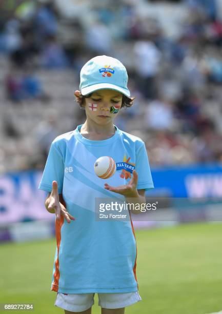 Children playing ECB All Stars Cricket during the 2nd Royal London One Day International between England and South Africa at The Ageas Bowl on May 27...