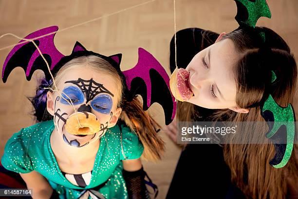 Children playing Halloween game