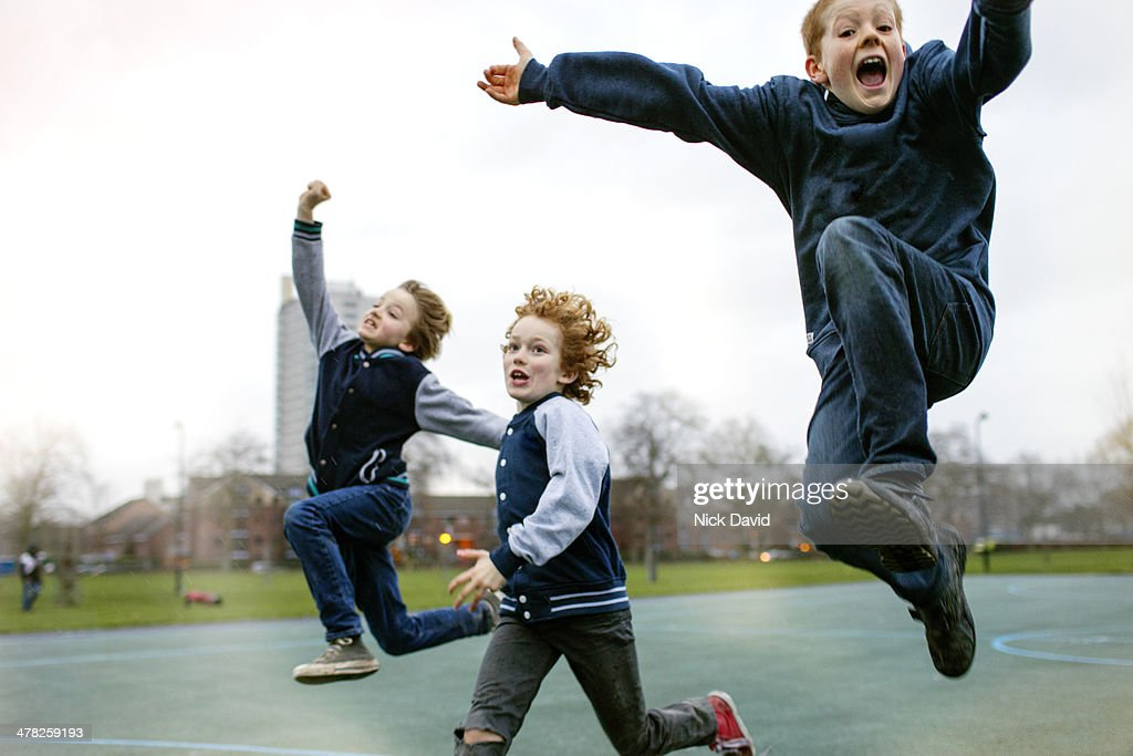 Children playing in park : Stock Photo