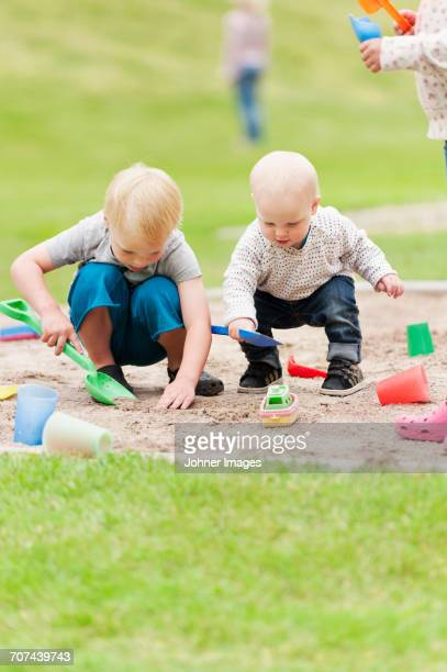 Children playing in sandpit