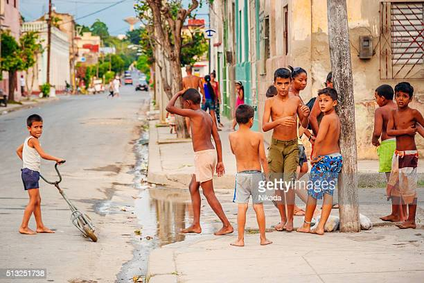 Children playing in the street, Cuba