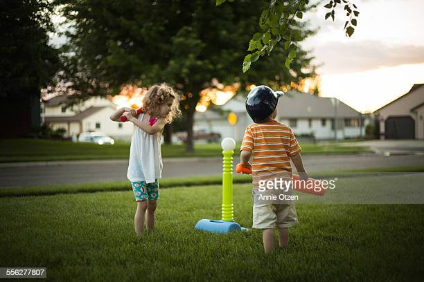 Children Playing Tee-ball