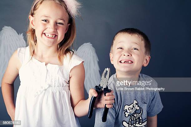 Children Playing Tooth Fairy