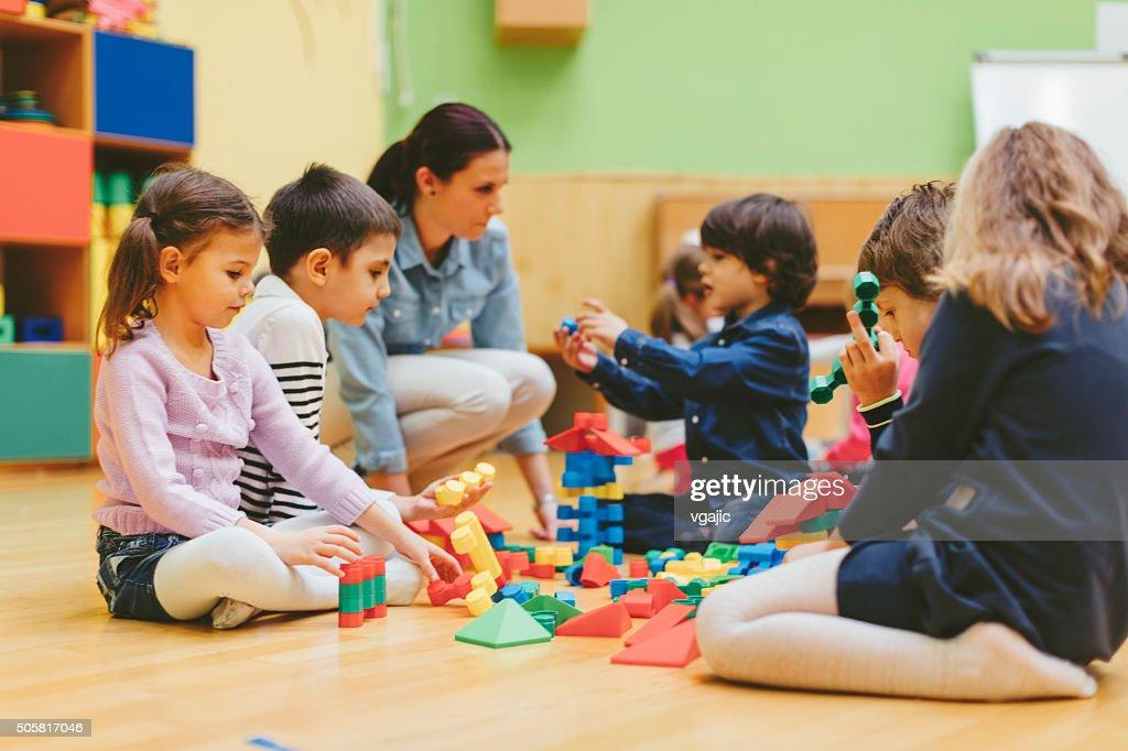 Kindergarten Children Playing