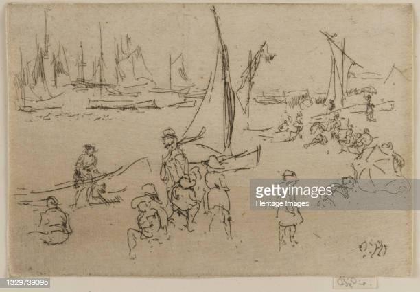 Children, Portsmouth, 1887. Artist James Abbott McNeill Whistler.
