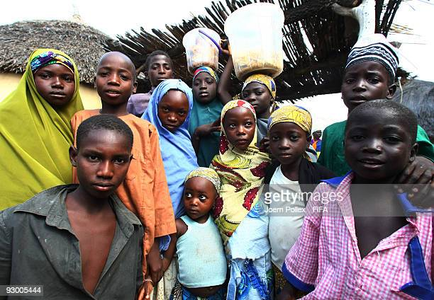 Children pose for the camera on November 07 2009 in Bauchi Nigeria