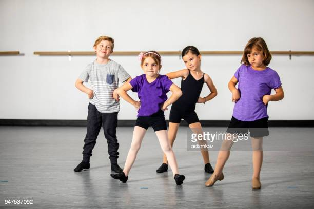 children practicing musical theater in studio - acting performance stock pictures, royalty-free photos & images