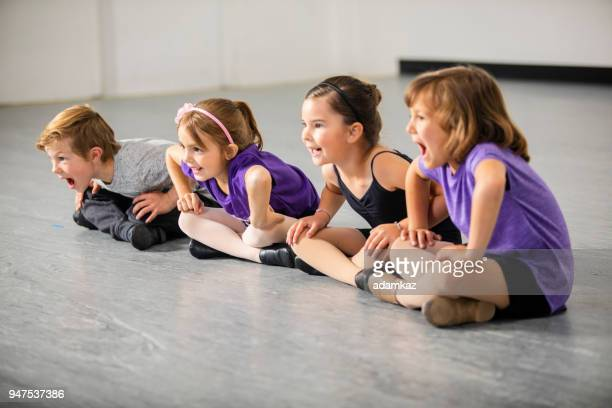 children practicing musical theater in studio - acting stock pictures, royalty-free photos & images