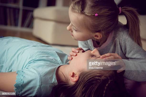 Children practising first aid
