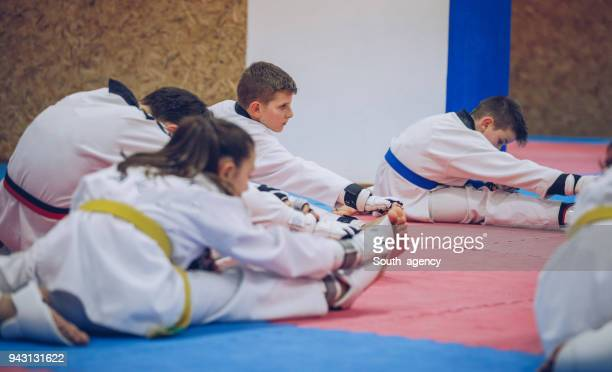 children preparing for practice - judo stock pictures, royalty-free photos & images