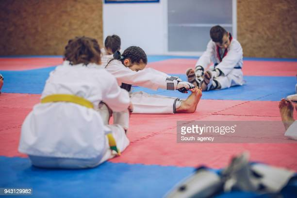 children preparing for training - judo stock pictures, royalty-free photos & images