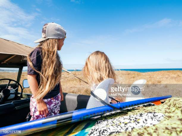 Children preparing to surf