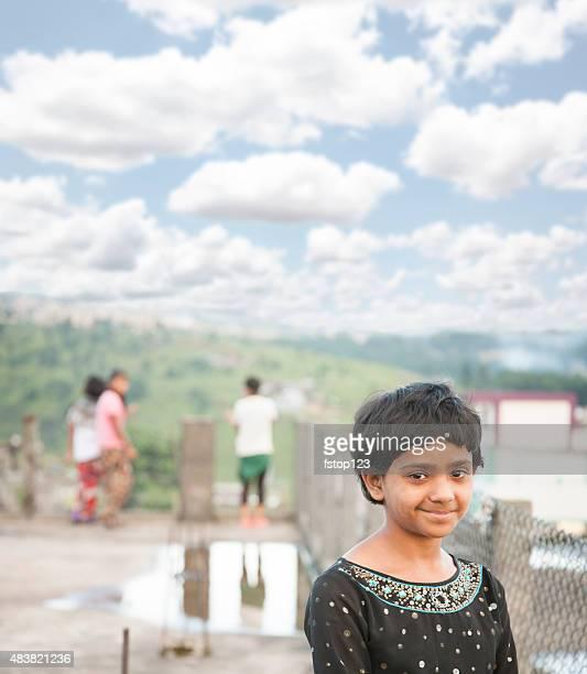 お子様ます。かわいらしい女の子シロン、インドにインドます。