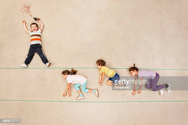Children racing at sports event