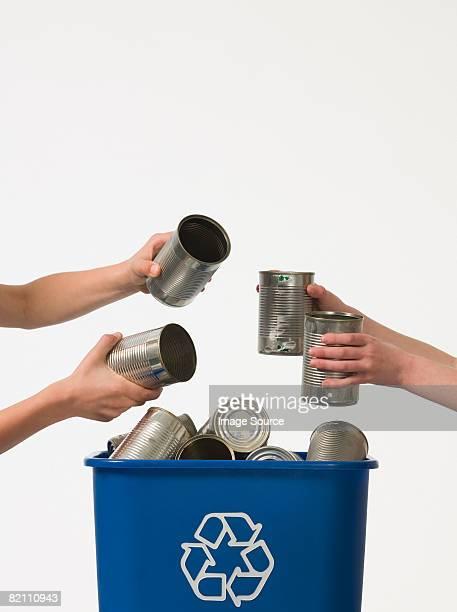 Children recycling