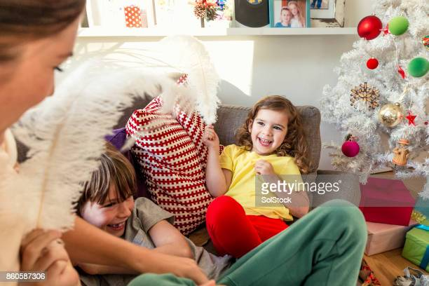 Children Relaxing Over Christmas Holidays