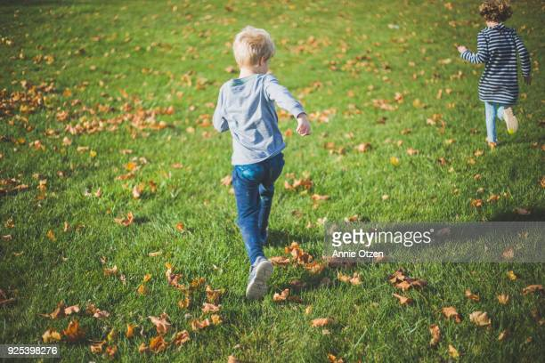 Children Running Away