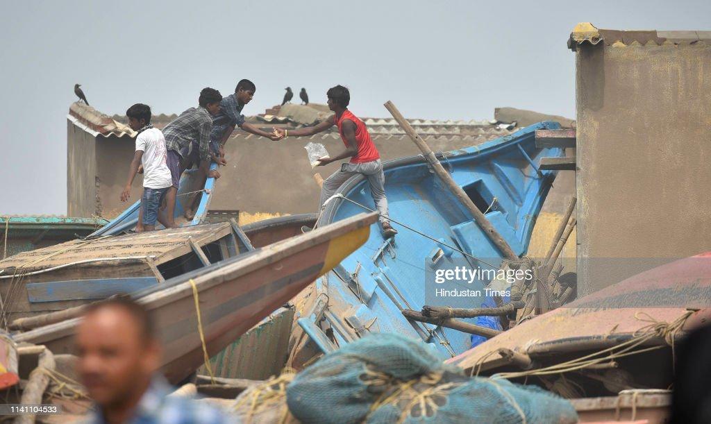 Cyclone Fani Hits Odhisa, West Bengal Triggering Heavy Rainfall, Uprooting Trees : News Photo