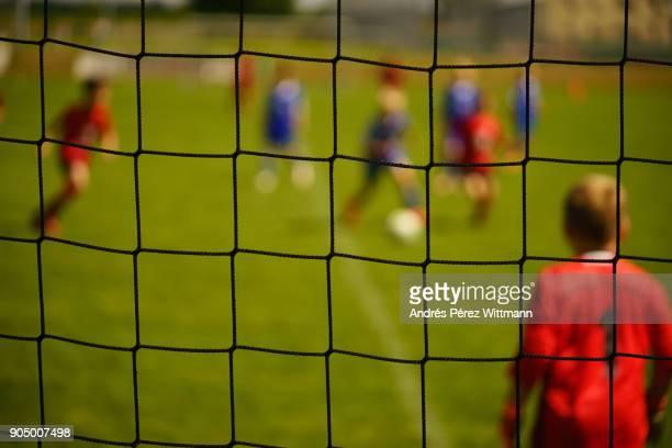 Children soccer match