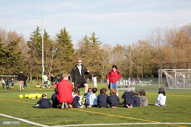 children soccer practice - richmond british columbia stock photos and pictures