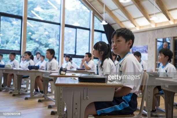 Children speak in class with the teacher Satoko Mabuchi Softball 2008 Beijing Olympic Games gold medalist during the project Sports Smile Classroom...
