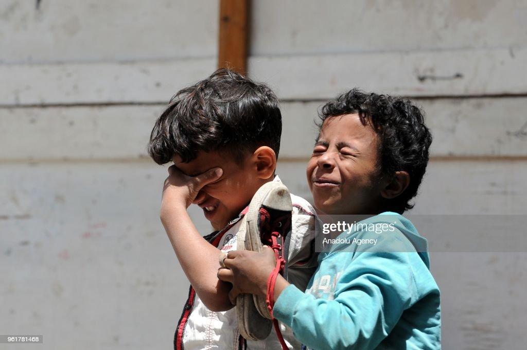 Yemeni tradition to wear eyeliner : News Photo