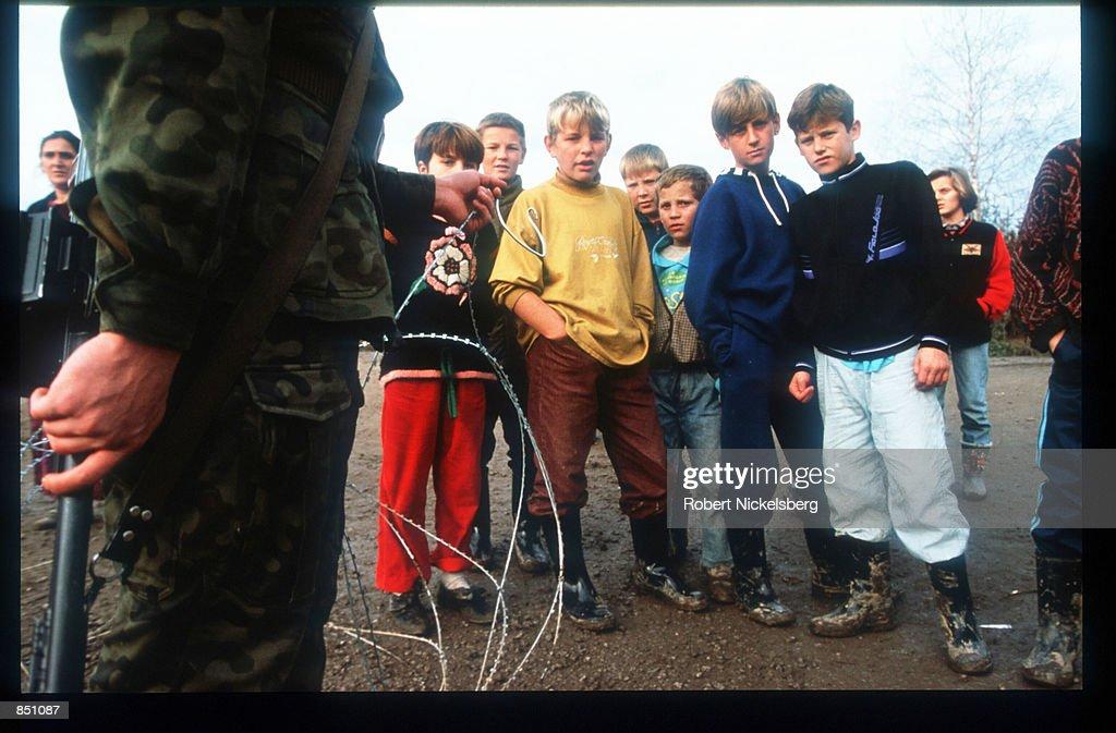 Croat And Muslim Refugees Surviving War : News Photo