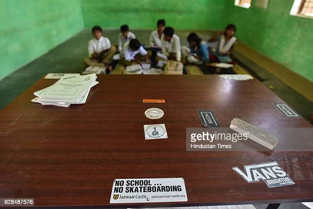Children studying in the classroom at government school on October 26, 2016 in Janwaar, India. In just six months he has learned almost all the basic...
