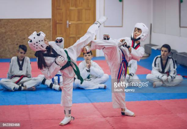Kinder Taekwondo training
