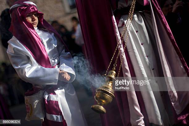 Children take part and protagonize the procession of the brotherhood quotLa Borriquitaquot during the Palm Sunday in the Holy Week in Zamora Spain on...
