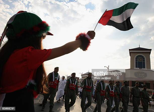 Children take part in a Dubai National Day parade on December 1 2008 in Dubai United Arab Emirates National Day festivities traditionally take place...