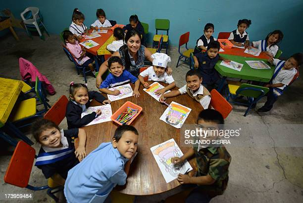Children take part in the I want to be program launched by the Honduran Institute for the Prevention of Alcoholism Drug Addiction and Dependence on...