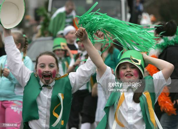 Children take part in the main St Patrick's Day parade March 17 in west Belfast Northern Ireland