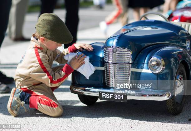Children take part in the Settrington Cup during the Goodwood Revival at Goodwood on September 9 2017 in Chichester England